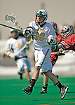 23 March 2008: University of Vermont Catamounts' Max Gradinger, a Freshman from Rancho Santa Fe, CA, in action against the Bellarmine University Knights at Moulton Winder Field, in Burlington, Vermont. The Catamounts defeated the visiting Knights 9-7 at the Vermont home opener...Mandatory Photo Credit: Ed Wolfstein Photo