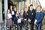 regional finalist of the Rotary International Youth Leadership competition Front l-r Alan O'Sullivan from Bishopstown,  Darragh Clark, MERCY Mounthawk, Tim O'Driscoll from Bandon, Back l-r Dylan McCarthy, Caoimhe Doyle, Intermediate School, Killorglin, Darragh O'Keeffe, Mallow, Rebecca O'Shaughnessy, Cork, Alison Boardman President Tralee Rotary Club, Conny Ovesen, Assistant Governor, District 1160  at  The Imperial Hotel on Tuesday