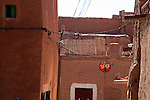 Africa, Morocco, Ouarzazate. Berber village of Ouarzazate.