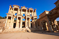Photo & picture of The library of Celsus. Images of the Roman ruins of Ephasus, Turkey. Stock Picture & Photo art prints 2