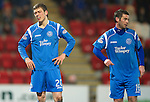 St Johnstone v Aberdeen....02.03.11 .Murray Davidson shows his frustration after Liam Craig squandered a chance to score.Picture by Graeme Hart..Copyright Perthshire Picture Agency.Tel: 01738 623350  Mobile: 07990 594431