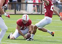 Stanford, CA - April15, 2017:  Jake Bailey (14) Jet Toner (26) at Cagan Stadium.