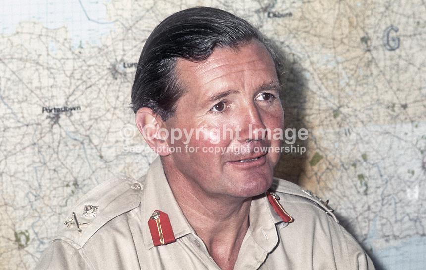 Major General Robert Ford Commander Land Forces During