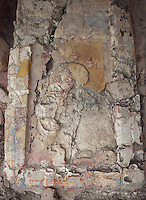 Detail of Stucco, Five-Floor Building, Puuc architectural style, Late Classic Period, 600 - 900 AD, Edzna, Campeche, Mexico. Picture by Manuel Cohen