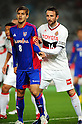 Aria Jasuru Hasegawa (FC Tokyo), Joshua Kennedy (Grampus),.MARCH 17, 2012 - Football / Soccer :.2012 J.League Division 1 match between F.C.Tokyo 3-2 Nagoya Grampus Eight at Ajinomoto Stadium in Tokyo, Japan. (Photo by AFLO)