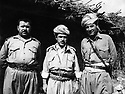 Iraq 197?.Idris Barzani , right Mustafa Bag.Irak 197?.2eme Idris Barzani et a droite Mustafa Bag