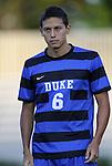 14 September 2012: Duke's Sean Davis. The Duke University Blue Devils defeated the Clemson University Tigers 2-0 at Koskinen Stadium in Durham, North Carolina in a 2012 NCAA Division I Men's Soccer game.