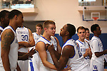 Marquis Teague jokes around with Jarrod Polson. Photo by Scott Hannigan | Staff