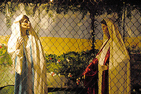 The Santa Monica Nativity Scene:Scene 3 The Visitation - St. Monica Catholic Church, on Tuesday, December 12, 2010.