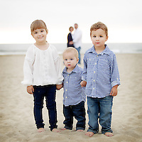 27 October 2013:  Andy, GIna, Piper (3), Hunter (2) and Duncan (1) Bill Family photo session in Huntington Beach, CA.
