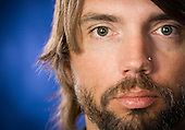 A musicians headshot by Austin portrait photographer Matthew Lemke.
