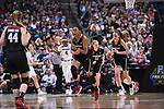 DALLAS, TX - MARCH 31:  Nadia Fingall #4 of the Stanford Cardinal celebrates during the 2017 Women's Final Four at American Airlines Center on March 31, 2017 in Dallas, Texas. (Photo by Justin Tafoya/NCAA Photos via Getty Images)