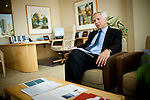 Mark Baldassare of the Public Policy Institute of California meets with his survey team in his San Francisco, Calif. office June 1, 2010..CREDIT: Max Whittaker for The Wall Street Journal.Pollster