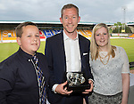 St Johnstone FC Player of the Year Awards...18.05.14<br /> Hihland Saints magic Moment Award to Frazer Wright, presented by Innes Ferguson and Hannah Blanch<br /> Picture by Graeme Hart.<br /> Copyright Perthshire Picture Agency<br /> Tel: 01738 623350  Mobile: 07990 594431