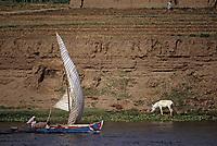 Afrique/Egypte: Félouque sur le Nil