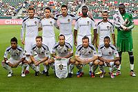 LA Galaxy starting eleven. The LA Galaxy beat Chivas USA 2-1 at Home Depot Center stadium in Carson, California on Sunday October 3, 2010.
