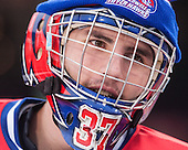 Connor Hellebuyck (UML - 37) - The Northeastern University Huskies defeated the University of Massachusetts Lowell River Hawks 4-1 (EN) on Saturday, January 11, 2014, at Fenway Park in Boston, Massachusetts.