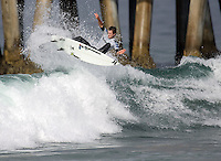 Brett Simpson. 2009 ASP WQS 6 Star US Open of Surfing in Huntington Beach, California on July 23, 2009. ..