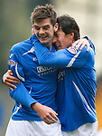 St Johnstone v Inverness Caley Thistle...15.10.11   SPL Week 11.Francisco Sandaza celebrates his goal with Cillian Sheridan.Picture by Graeme Hart..Copyright Perthshire Picture Agency.Tel: 01738 623350  Mobile: 07990 594431