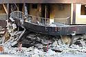 Hotel in Port-au-PRince haiti crushed by the earthquake
