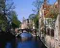 AA00419-02...BBELGIUM - Bruges, a town laced with a picturesque system of canals and known as the Venice of the North.