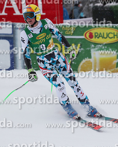 04.12.2016, Lake Louise, USA, FIS Weltcup Ski Alpin, Lake Louise, Super G, Damen, im Bild Cornelia Huetter (AUT) // Cornelia Huetter of Austria reacts after her run of the women's SuperG of the Lake Louise FIS Ski Alpine World Cup at the Lake Louise, United Staates on 2016/12/04. EXPA Pictures &copy; 2016, PhotoCredit: EXPA/ SM<br /> <br /> *****ATTENTION - OUT of GER*****