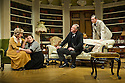 Bath, UK. 17.06.2013. RELATIVE VALUES, by Noel Coward, opens the 2013 summer season at the Theatre Royal Bath. Picture shows: Patricia Hodge (Felicity, Countess of Marshwood), Caroline Quentin (Moxie, the housemaid), Rory Bremner (Crestwell, the butler), and Steven Pacey (Peter Ingleton). Photograph © Jane Hobson.