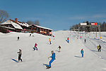 Snowboarders on Kuutsem&auml;e Resort Track, Valga County, Estonia