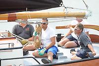 ZEILEN: LEMMER: Lemster baai, 31-07-2014, SKS skûtsjesilen, skûtsje Ut 'e Striid, Langweer, schipper Johannes Meeter, ©foto Martin de Jong