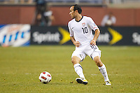 7 June 2011: USA Men's National Team midfielder Landon Donovan (10) during the CONCACAF soccer match between USA and Canada at Ford Field Detroit, Michigan. USA won 2-0.