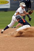 SAN ANTONIO, TX - APRIL 27, 2008: The Stephen F. Austin State University Ladyjacks vs. The University of Texas at San Antonio Roadrunners Softball at Roadrunner Field. (Photo by Jeff Huehn)