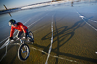 Ice Biking-Lake Michigan- Michigan's Upper Peninsula