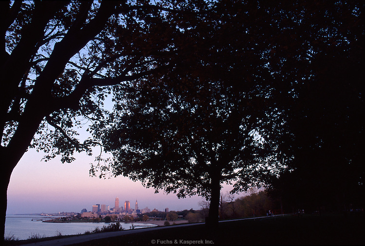 The Cleveland skyline from Edgewater Park on the west side.