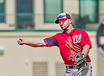 10 March 2015: Washington Nationals infielder Dan Uggla in Spring Training action against the Miami Marlins at Roger Dean Stadium in Jupiter, Florida. The Marlins edged out the Nationals 2-1 on a walk-off solo home run in the 9th inning of Grapefruit League play. Mandatory Credit: Ed Wolfstein Photo *** RAW (NEF) Image File Available ***