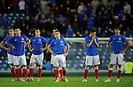 Rangers dejection after losing on penalties