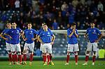 Rangers dejection after losing on penalties