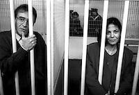 Roma 1992<br /> Aula bunker del Foro Italico<br /> Processo Moro-ter alle Brigate Rosse. Prospero Gallinari, Barbara Balzerani