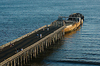 California, Santa Cruz County, Aptos, Pier and cement ship