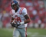 Ole Miss wide receiver Markeith Summers (16) makes a touchdown catch against the Arkansas Razorbacks at Reynolds Razorback Stadium in Fayetteville, Ark. on Saturday, October 23, 2010.