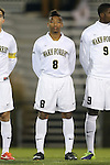 25 October 2013: Wake Forest's Jacori Hayes. The Duke University Blue Devils hosted the Wake Forest University Demon Deacons at Koskinen Stadium in Durham, NC in a 2013 NCAA Division I Men's Soccer match. The game ended in a 2-2 tie after two overtimes.