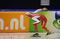 SCHAATSEN: HEERENVEEN: 04-10-2014, IJsstadion Thialf, Trainingswedstrijd, Marrit Leenstra, ©foto Martin de Jong