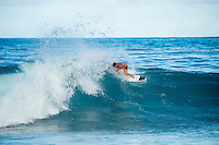 Pipeline-Backdoor, North Shore, Oahu, Hawaii. (Monday December 12, 2016):  - Italo Ferreira (BRA) surfing Off The Wall while the Men's Pipe Invitational was happening righ next door at Pipeline and Backdoor.<br /> Photo: joliphotos