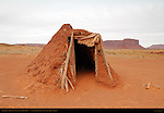 Navajo Dine Forked-Stick Male Hogan, Monument Valley Navajo Tribal Park, Navajo Nation Reservation, Utah/Arizona Border