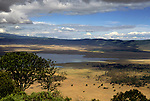 Africa, Tanzania, Ngorongoro Crater. View from the rim of the crater.