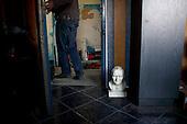 Nowa Sol, Poland, March 30, 2011:.The pope John Paul 2 head at the office of company making garden figures..(Photo by Piotr Malecki / Napo Images)..Nowa Sol, 30/03/2011:.Popiersie papieza Jana Pawla II w biurze firmy produkujacej formy odlewnicze..Fot: Piotr Malecki / Napo Images.