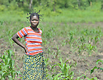 A woman who works in a community agriculture project outside Kamina, in the Democratic Republic of the Congo. Sponsored by the United Methodist Committee on Relief (UMCOR), the project increases food security in poor communities, especially for women and children.