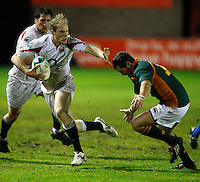Photo: Richard Lane/Richard Lane Photography. England U20 v South Africa U20. Semi Final. 18/06/2008. England's Joe Simpson attacks.