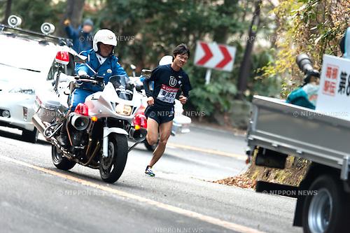 Ryuji Kashiwabara (Toyo-Univ),.JANUARY 2, 2012 - Ekiden :.Day one of the 88th Hakone Ekiden, The 5th section (23.4km) from Odawara to Lake Ashi, Hakone, in Kanagawa, Japan. (Photo by SONG Seak-In/AFLO)