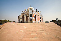 Humayun's Tomb with arched doorways and double dome erected by Humayun's wife in the 16th century. (Photo by Matt Considine - Images of Asia Collection)