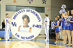 UK senior forward Brittany Henderson being honored during the first half of the women's basketball game vs. Tennessee at Memorial Coliseum on Sunday, March 3, 2013, in Lexington, Ky. Photo by Kalyn Bradford | Staff